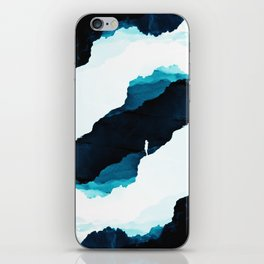 Teal Isolation iPhone Skin