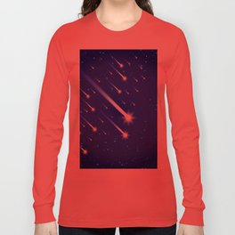 Space background with stars and comets Long Sleeve T-shirt