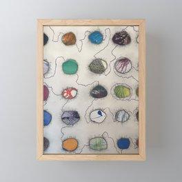 Electric Circles Framed Mini Art Print