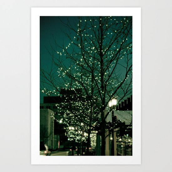 Twinkle Lights Art Print