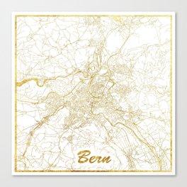 Bern Map Gold Canvas Print
