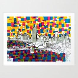 BRISBANE POSTCARD SERIES 019 Art Print