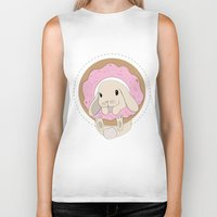 sprinkles Biker Tanks featuring Sprinkles the Bunny by LarissaKathryn