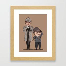 Short companion Framed Art Print