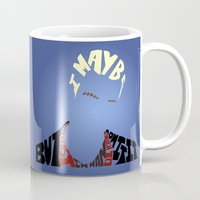 buffy the vampire slayer Mugs featuring Spike - Buffy the vampire slayer by Rebecca McGoran
