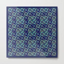 Patternsmith Triangles Blue Metal Print