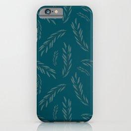 Eucalyptus,simple,blue minimal pattern  iPhone Case