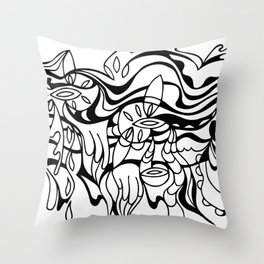 black and white abstract image Throw Pillow