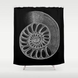 gyre black Shower Curtain