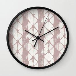 Simply Braided Chevron Clay Pink on Lunar Gray Wall Clock