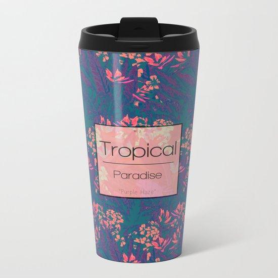 Tropical Paradise: Purple Haze Metal Travel Mug