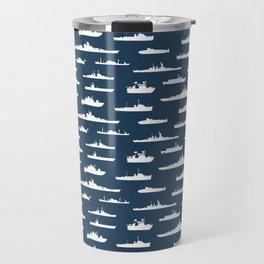 Battleship // Navy Blue Travel Mug