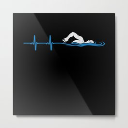Heartbeat Swimming Metal Print