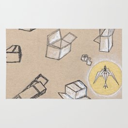 Fragile Boxes Rug