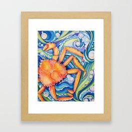 King of Crab Framed Art Print
