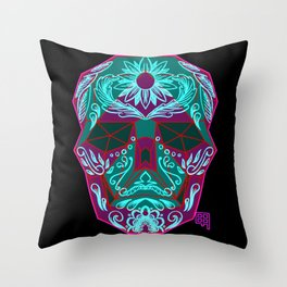 Mexican skull Throw Pillow