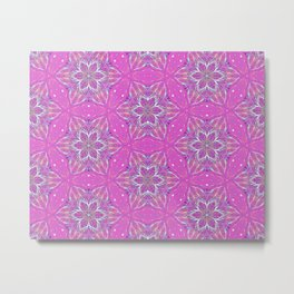 Violet stars Pattern Metal Print