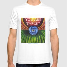 You Are TARGET Mens Fitted Tee MEDIUM White