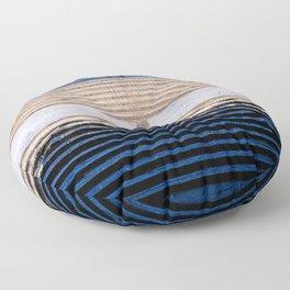 Blue and rain Floor Pillow