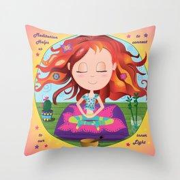 Meditation Om Zen Throw Pillow