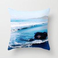 bali Throw Pillows featuring bali by Jen Gottlieb