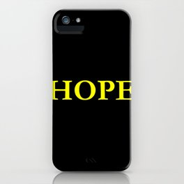 Hope 1 - yellow version iPhone Case