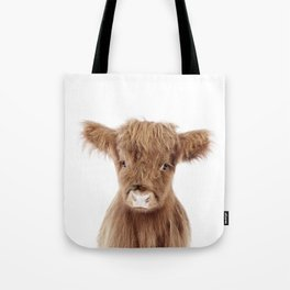 Baby Highland Cow Portrait Tote Bag
