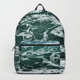 Sea Water Surface Texture Seashore Backpack