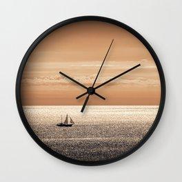 Somewhere beyond the sea Wall Clock