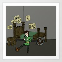hiccup Art Prints featuring Hiccup Adjustments by Gio Garcia