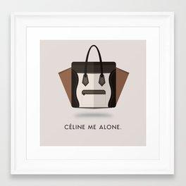 Céline Me Alone Framed Art Print