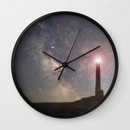 Milkyway over Thacher Island Wall Clock