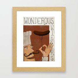 Wonderous Wieners Framed Art Print