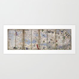 8 Panel Catalan Atlas by Abraham Cresques (1375) Art Print