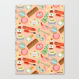 Toiletries Pattern Canvas Print