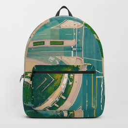 The City From Above (Color) Backpack