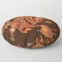 Abstract Fall Leaves Floor Pillow