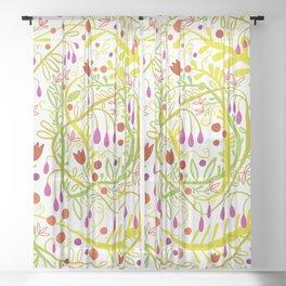 Garden Gone Wild Sheer Curtain