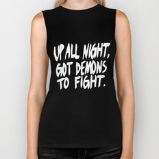 UP ALL NIGHT Biker Tank