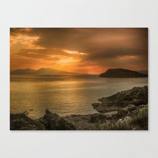 Sunset over Lismore Island of the shores of Oban in the west of Scotland. Canvas Print