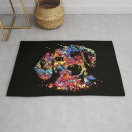 Colorful Dachshund dog  - Doxie Rug