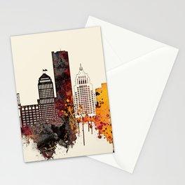Detroit City Skyline Stationery Cards