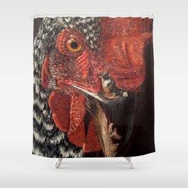 Chicken Hen Animal Portrait Shower Curtain