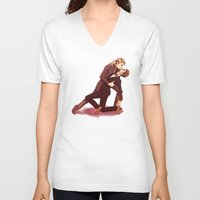 dancing V-neck T-shirts featuring DANCING by FISHNONES