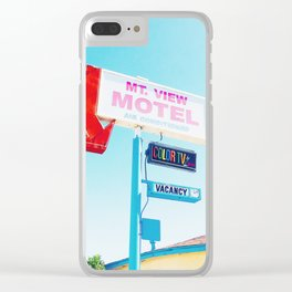 Mountain View Motel Clear iPhone Case