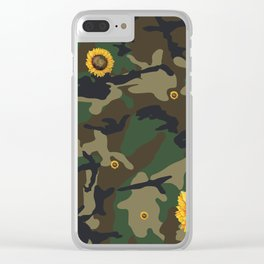sunflower camo Clear iPhone Case