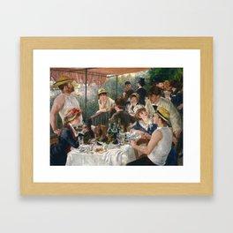 Auguste Renoir  -  Luncheon Of The Boating Party Gerahmter Kunstdruck