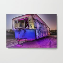 Light Painted Mobile Home Metal Print