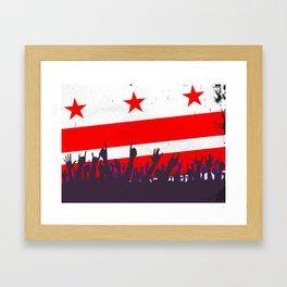Washington DC Flag with Audience Framed Art Print