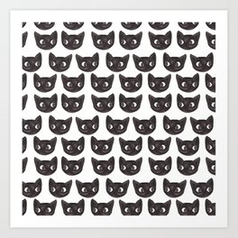Black Cats // Lots of Black Cats Art Print